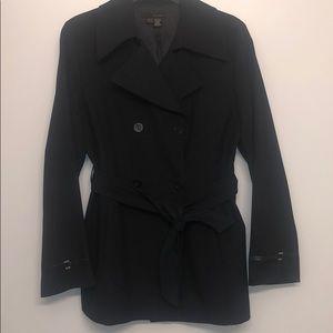Zara belted blazer , leather on cuff detail sz 8